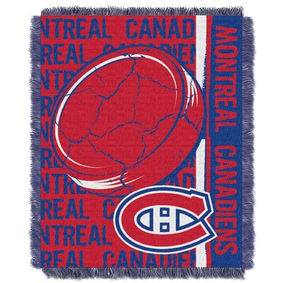 NHL Canadiens Double Play Woven Throw