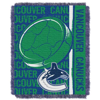 NHL Canucks Double Play Woven Throw