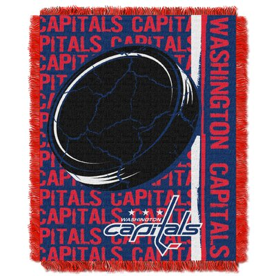 NHL Capitals Double Play Woven Throw