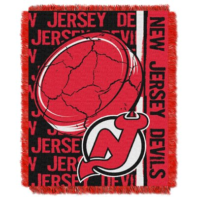 NHL Devils Double Play Woven Throw