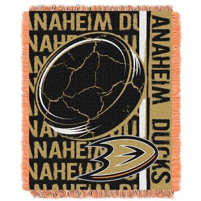 NHL Ducks Double Play Woven Throw