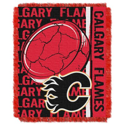 NHL Flames Double Play Woven Throw