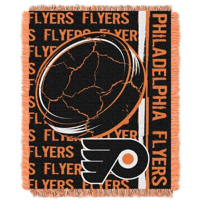 NHL Flyers Double Play Woven Throw