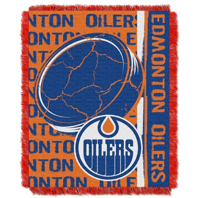 NHL Oilers Double Play Woven Throw