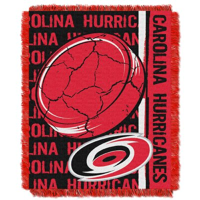 NHL Hurricanes Double Play Woven Throw