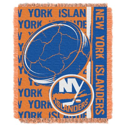 NHL Islanders Double Play Woven Throw