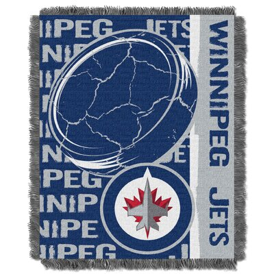 NHL Winnipeg Jets Double Play Woven Throw