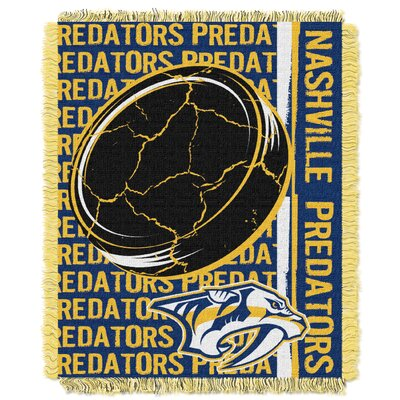 NHL Predators Double Play Woven Throw