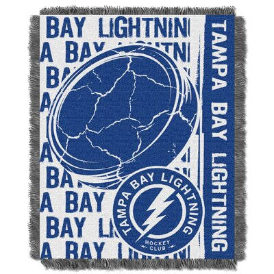 NHL Lightning Double Play Woven Throw