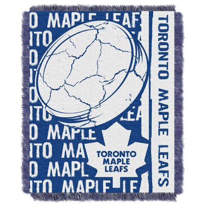 NHL Maple Leaf Double Play Woven Throw