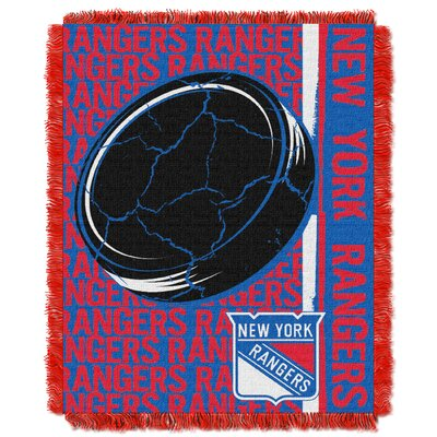 NHL Rangers Double Play Woven Throw