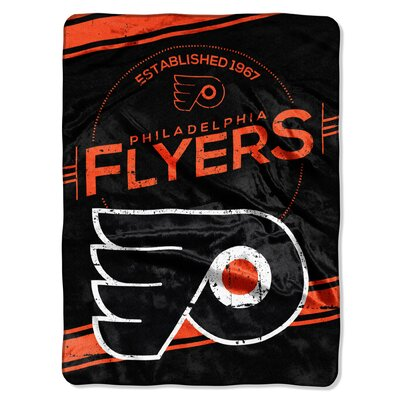 NHL Flyers Stamp Raschel Throw