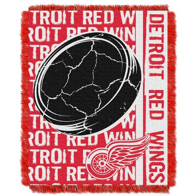 NHL Redwings Double Play Woven Throw