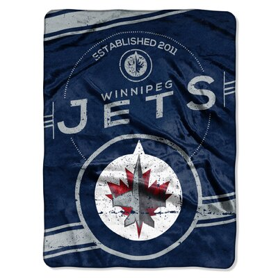 NHL Winnipeg Jets Stamp Raschel Throw
