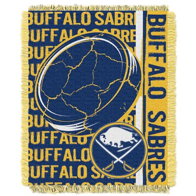 NHL Sabres Double Play Woven Throw