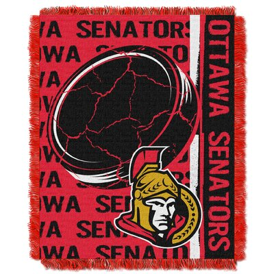 NHL Senators Double Play Woven Throw