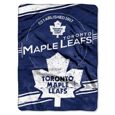 NHL Maple Leafs Stamp Raschel Throw