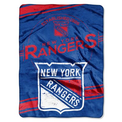 NHL NY Rangers Stamp Raschel Throw