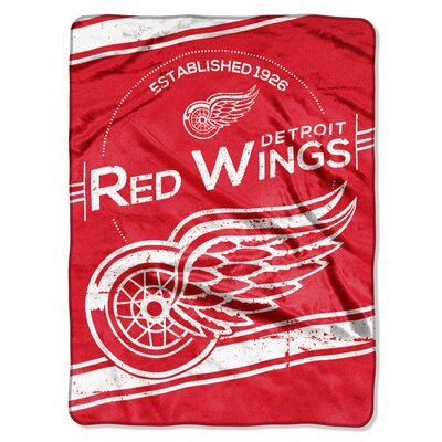 NHL Red Wings Stamp Raschel Throw