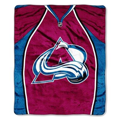 NHL Avalanche Jersey Raschel Throw