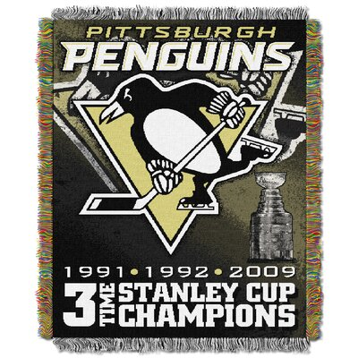 NHL Penguins Commemorative Throw Blanket