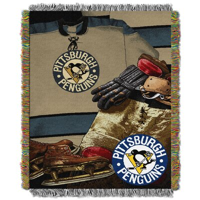 NHL Penguins Vintage Throw Blanket