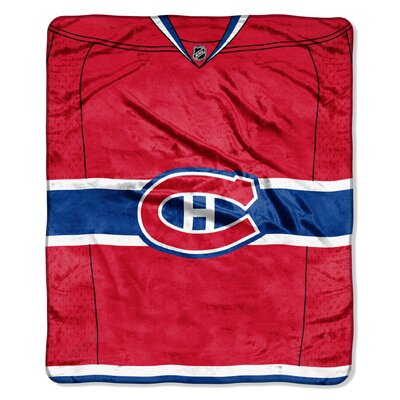 NHL Canadiens Jersey Raschel Throw