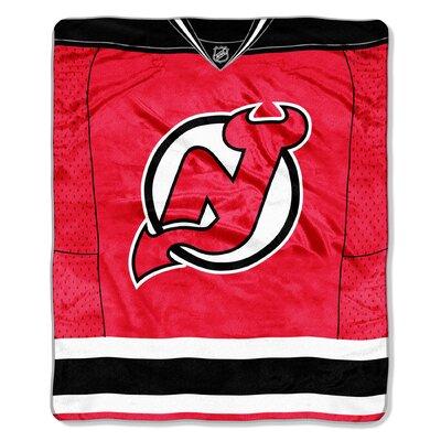 NHL Devils Jersey Raschel Throw