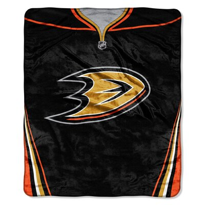 NHL Ducks Jersey Raschel Throw