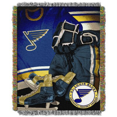 NHL Blues Vintage Throw Blanket