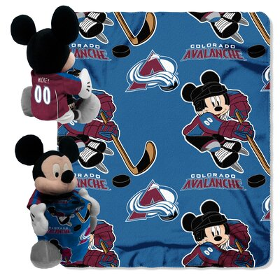 NHL Mickey Mouse Throw NHL Team: Colorado Avalanche