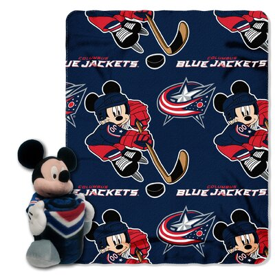 NHL Mickey Mouse Throw NHL Team: Columbus Blue Jackets