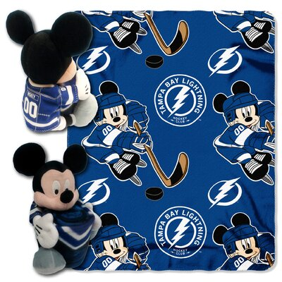 NHL Mickey Mouse Throw NHL Team: Tampa Bay Lightning