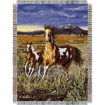 Entertainment Tapestry Hautman Brothers HB Running Pintos Throw Blanket