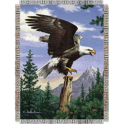 Entertainment Tapestry Hautman Brothers Eagle Perch Throw Blanket