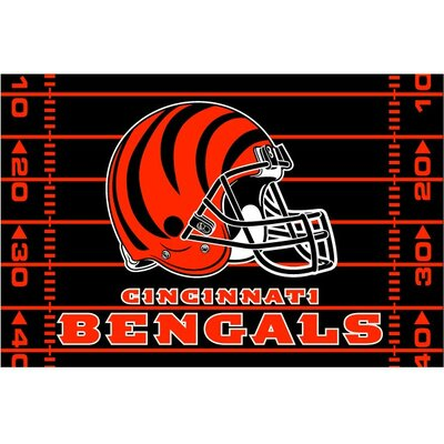 NFL Bengals Red/Black Area Rug