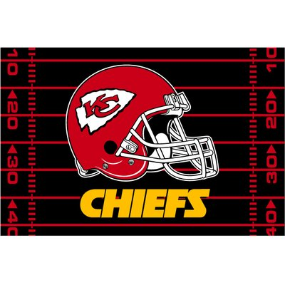 NFL Chiefs Red/Black Area Rug