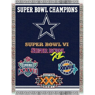 NFL Dallas Cowboys Commemorative Tapestry Throw