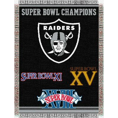 NFL Oakland Raiders Commemorative Tapestry Throw