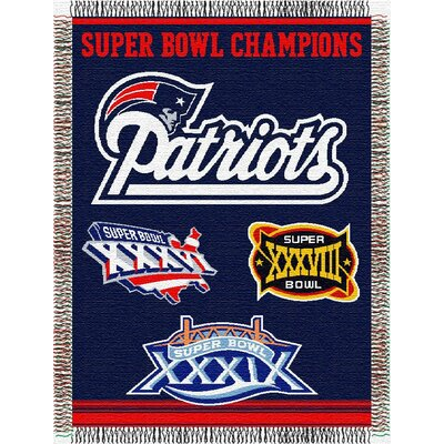 NFL New England Patriots Commemorative Tapestry Throw