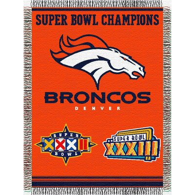 NFL Denver Broncos Commemorative Tapestry Throw