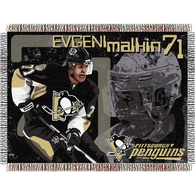 NHL Players Tapestry Throw Blanket NHL Player: Evgeni Malkin