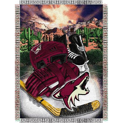 NHL Home Ice Advantage Tapestry Throw Blanket NHL Team: Arizona Coyotes