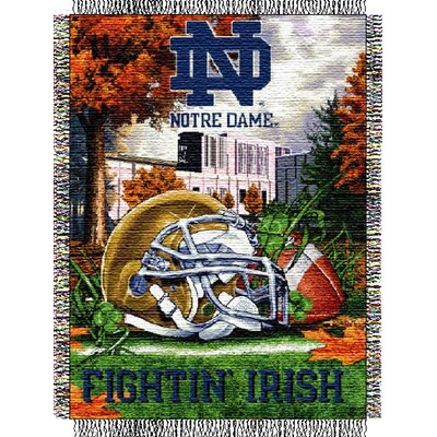 College NCAA Notre Dame Tapestry Throw