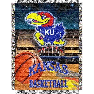 College NCAA Kansas Tapestry Throw