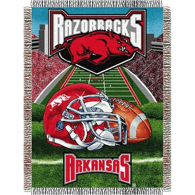College NCAA Arkansas Tapestry Throw