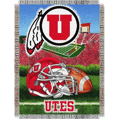 College NCAA Utah Tapestry Throw