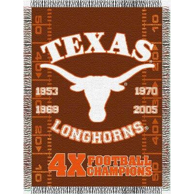 NCAA Texas Commemorative Woven Throw Blanket