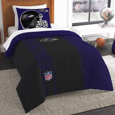 NFL Ravens Helmet Comforter Set Size: Twin