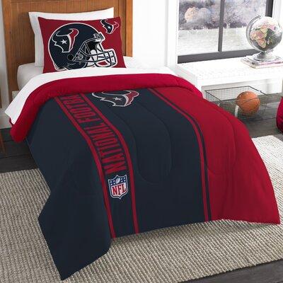 NFL Texans Helmet Comforter Set Size: Twin
